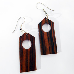 Boucles d'Oreille en Bois Naturel Forme Simple et Originale