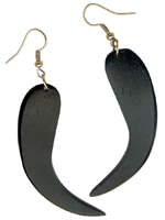 Boucles d'oreille Originales en Bois Forme Simple Ethnique